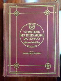 小8开 圣经纸本 美国原装辞典 有拇指索引 新韦氏国际英语大词典 第二版) 带世界简史 卷三 webster\s new international dictionary second edition unabridged  with Referance History VL3