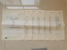 著名演员 徐帆 手稿6页  16开稿纸  写到父母催婚  来自方卓青书稿