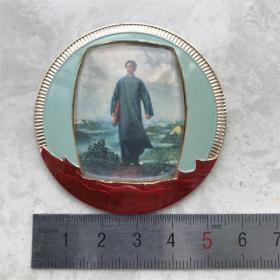 红色纪念收藏文革时期毛主席像章庆祝革委会成立一周年去安源703