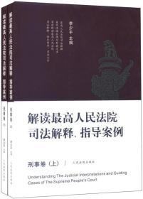 解读最高人民法院司法解释、指导案例:刑事卷(套装共2册)