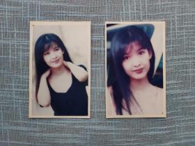 老照片2张 周慧敏