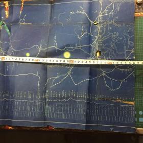 晒图蓝纸地图可能是民国南昌铁路段到武昌铁路段周围铁路站点线路图,只有一部分,不全
