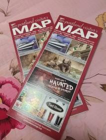 portland 波特兰 旅游地图 英文版