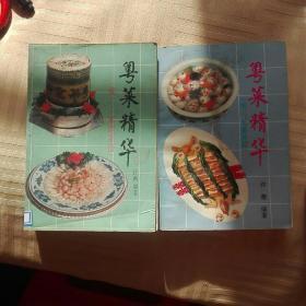 粤菜精华(续二家庭菜谱+续三名菜新篇)2本合售.