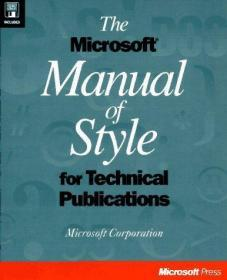 The Microsoft Manual of Style for Technical Publicatio