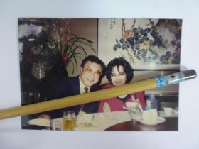 李香兰与李翰祥合影彩色老照片(Q22-2)