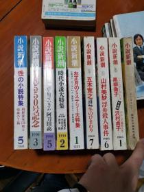 小说新潮  日本原版  共9本