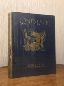 1909年初版初印 Rackham 插图 <Undine> 贴片式插图 好品