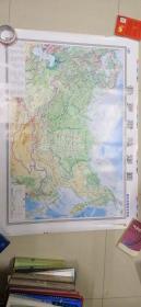 俄罗斯地形图(高中地理教学挂图)1:8300000
