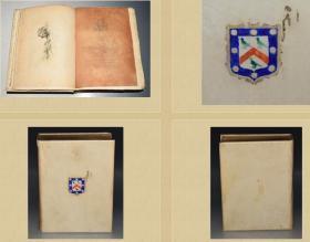 1900年 The Natural History and Antiquities of Selborne 签名本  限量160本 含50副整页插图 另有很多小图 全白犊皮装帧 两侧毛边 书顶刷金  26.7X20CM