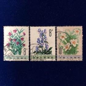 邮票 T.72.(6-2)(6-3)(6-4) 药用植物3枚