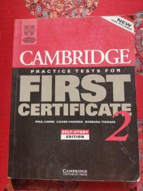 Cambridge Practice Tests For First Certificate 2