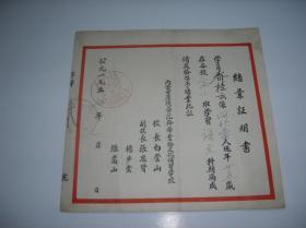 1957年内蒙古康复医院干部结业证明书