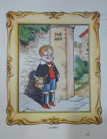 The Japhet And Happy Annual  经典儿童绘本《贾福特的欢乐年鉴》大量绝美珂罗版套色彩色版画插图 珍贵作者签赠本 大开本