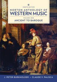 Norton Anthology of Western Music 乐谱 英文原版 诺顿西方音乐选集 古代到巴洛克风格