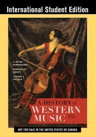 现货 A History of Western Music 英文原版   西方音乐史 简明西方音乐史 西方音乐简史