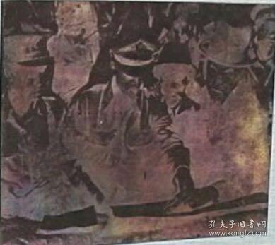 珍贵铜版老照片底板,铜板画底板(正面为抗日名将史迪威将军研究作战地图,反面为铜版画(落款:1954年)