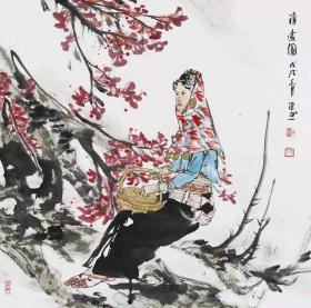 【展览作品 永久保真】中美协会员 江西画院专职画家 夏溢 四尺斗方写意人物