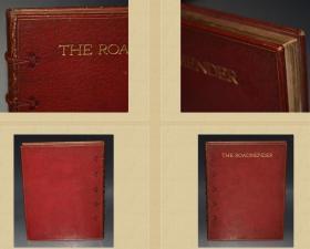 1911年 The Roadmender  私坊精美摩洛哥全皮装帧  三面刷金  含E. W. White.8副彩色插图 纸张不错 27.5X21.2CM