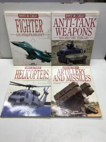 ARMAMENT AND TECHNOLOGY(Helicopters、Artillery and missiles、Fighter and stealth aircraft、Anti-tank weapons and military Vehicles)4本合售(原版进口、图册)包邮