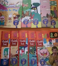 kids brown 布朗儿童英语 level2 6-10本5本教材+5本练习册