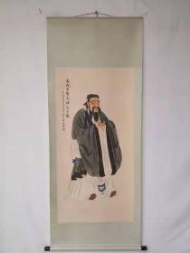 字画收藏仿古人物画大四尺中堂画手绘画画工精细102106T
