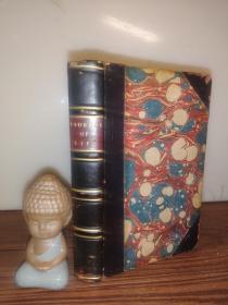 1860年  The Journey of Life BY Catherine Sinclair   半皮装帧  16.7X11.2CM