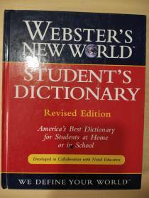 Websters New World Students Dictionary 韦伯斯特新世界学生词典 5-8年级 50000多个单词 英文版 超厚1040页