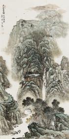 【保真】中美协会员 邯郸美协常务理事 任广强 四尺整张山水4