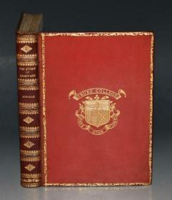 1911 年 Story of Hereward - Champion of England 英国历史小说经典《觉醒者贺耳沃德的故事》红色全小牛皮真皮古董书 著名画家哈蒙德全插图本