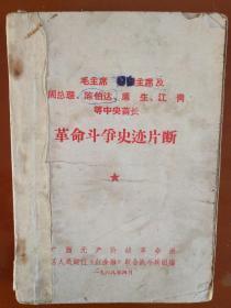 毛主席 林副主席及周总理、陈、康生、江青等中央首长-革命斗争史迹片断