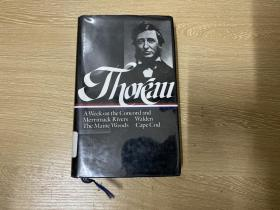 Thoreau:A week on the Conrad and Merrimack Rivers、Walden,The Maine Woods,Cape Cod 梭罗集:瓦尔登湖等,布面精装,权威美国文库版