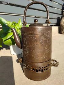 铜壶,炉,一套,炉是双龙头,人物图案清晰,字体寓意深长,直得拥有和收藏!