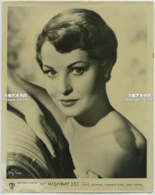 1940年代-1950年代美国华纳兄弟制片公司女影星女明星Gaby André肖像,25.7X20.3厘米
