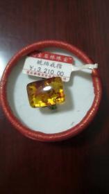 琥珀戒指一枚新品无拆封!精致饰物!