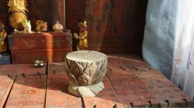 老木雕莲花坐·放佛像一流,整木手工雕刻。