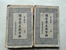 国音学生新字典 新式绘图上下两册全