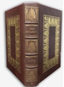 Plato :The Republic – 柏拉图《理想国》真皮豪华限量本 上等大丘纹摩洛哥羊皮装桢 增补插图 伊东初版本
