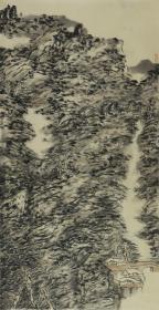 【保真 特惠】中美协会员 学院派青年画家 王静 四尺整张焦墨山水3