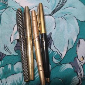 钢笔:英雄十上海(均未使用过)4支合售.
