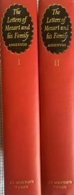 莫扎特书信全集  英译本  第二版    全两卷    彩布面精装   书脊烫金图案  带完整护封 木纹纸印刷