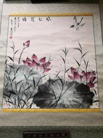 名家吴休(历任北京画院副院长,现为中国美术家协会理事,北京美展办公室主任,中国诗书画研究会会长,中国书法家协会会员,中华诗词学会会员,中国老教授学会会员等)  国画一幅