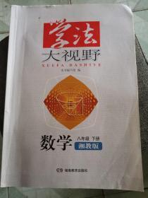 学法大视野·数学八年级下册(湘教版)2019版