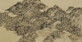 【保真 特惠】中美协会员 学院派青年画家 王静 四尺整张焦墨山水5