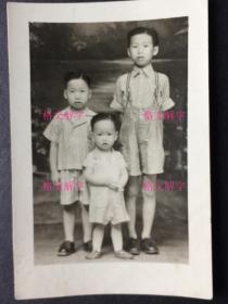 老照片 民国 儿童 背面有日期 和地点 永春(应该是福建永春县)