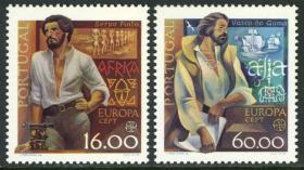 葡萄牙 1980 欧罗巴 名人 探险家平托 航海家达·伽马 2全新