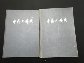 中药大辞典•下册及附编两册合售•16开精装本•一版一印
