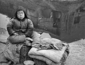 美国人拍照的1942年河南省大饥荒时的照片10张5吋的