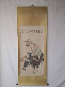 字画收藏仿古人物画大四尺中堂画手绘画画工精细120601T