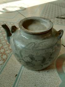 晚清地方窑茶壶